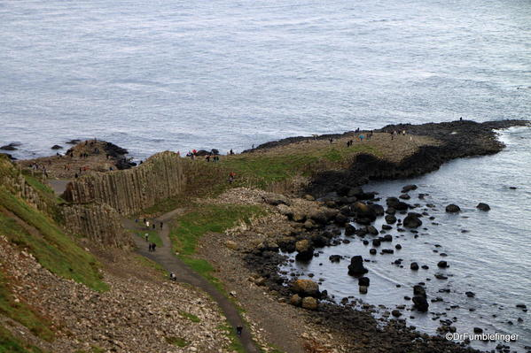 Views of the Giant's Causeway from the hilltop