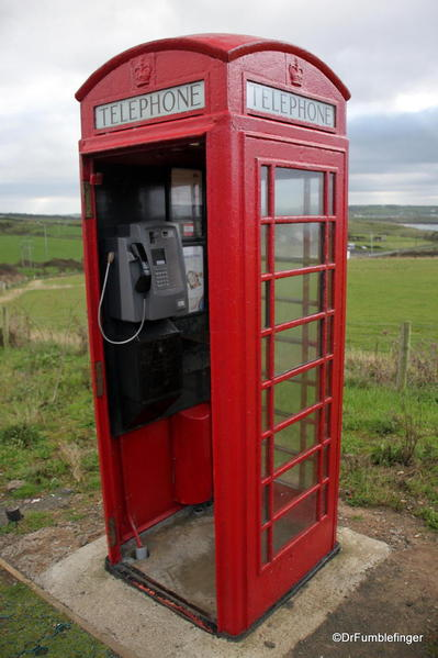 Classic old phone booth, Giant's Causeway