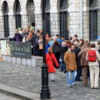 Line waiting to see the Book of Kells, Library of Trinity College, Dublin