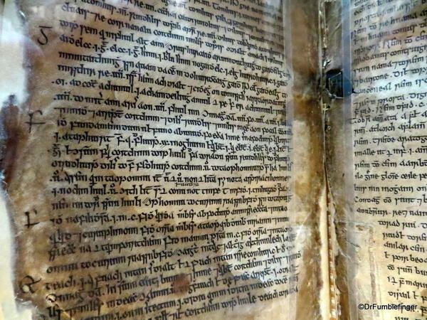 Ancient manuscript, Trinity College Library, Dublin
