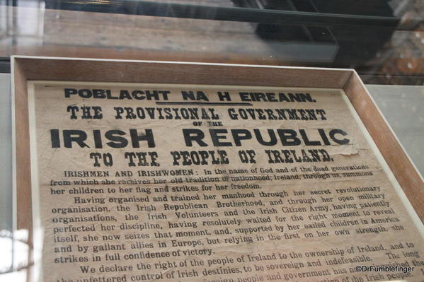 Rare copy of the Proclamation of the Irish Republic , Trinity College Library, Dublin