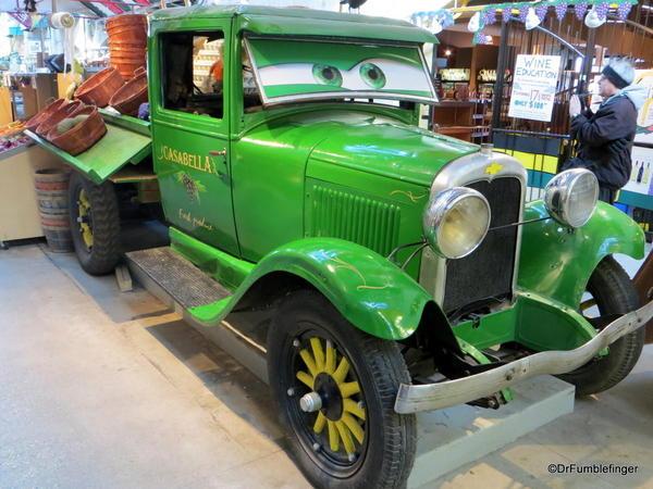 Old truck in The Forks Market, Winnipeg)