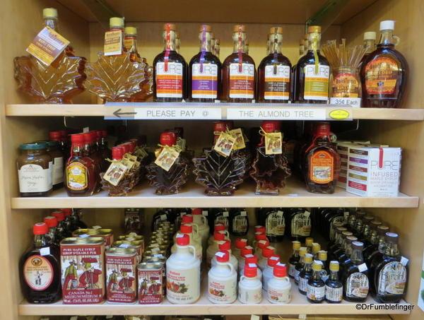 Maple syrup display, the Forks Market, Winnipeg