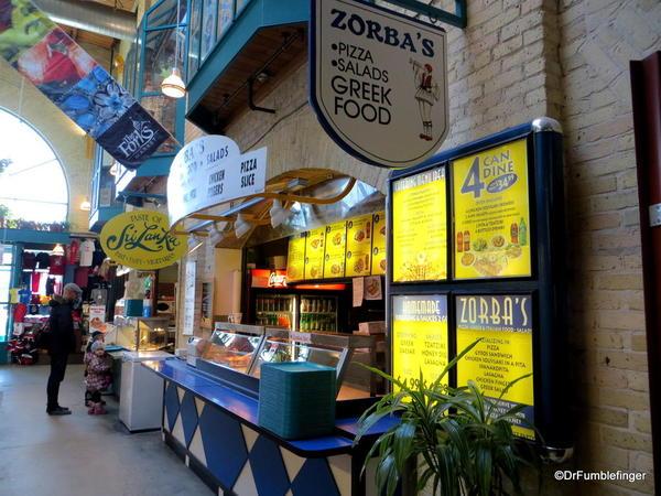 Food vendors, the Forks Market, Winnipeg