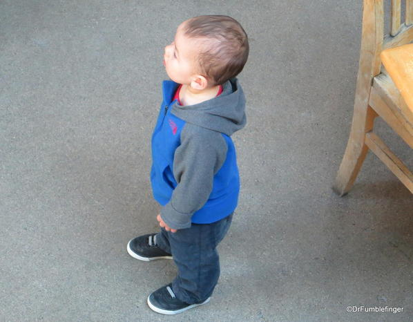Small child, the Forks Market, Winnipeg