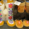 Hand-crafted boots, the Forks Market, Winnipeg