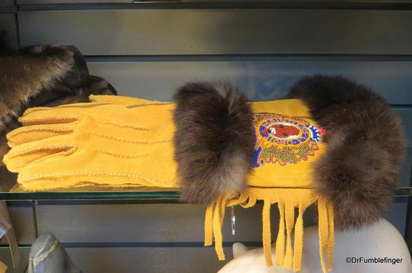 Hand-crafted gloves, the Forks Market, Winnipeg
