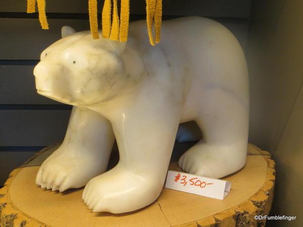 Inuit carving of a polar bear, the Forks Market, Winnipeg