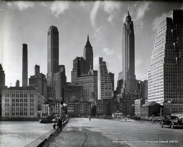 Manhattan_Skyline_I_South_Street_and_Jones_Lane_Manhattan_by_Berenice_Abbott_March_26_1936