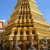 Temple of the Jade Buddha-4: Guilded stupa containing one of the the King's parents