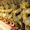 Temple of the Jade Buddha-9: Garudas all around the outside of the Jade Buddha's Temple