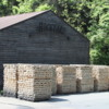 Lynchburg -- Jack Daniel's Distillery Rickyard: 2 x 2 inch strips of locally grown sugar maple are stacked and waiting to be prepared for their role in making Jack Daniel's whiskey.