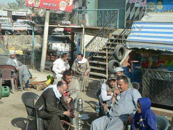 roadside cafe in Cairo