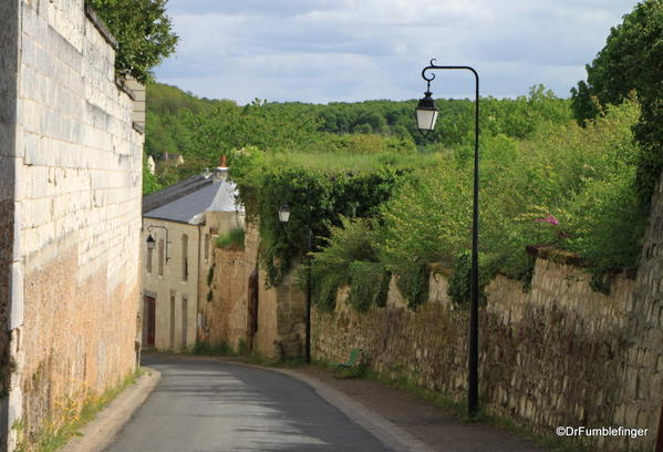 Medieval lane and abbey wall, Fontevraud Abbey