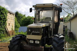 Lamborghini tractor, Fontevraud Abbey