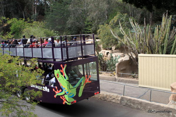 Tour bus, San Diego Zoo