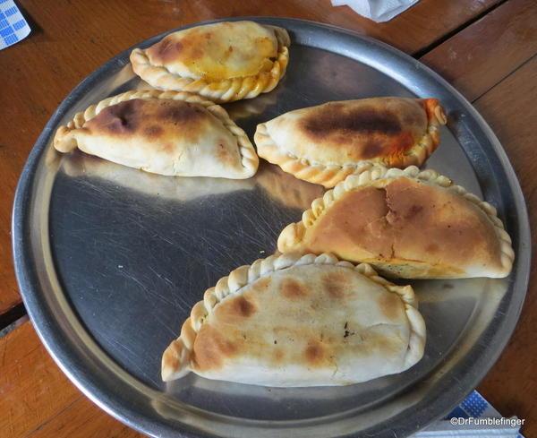 Fresh baked empanadas, Parillo Tours (Pedro Telmo)