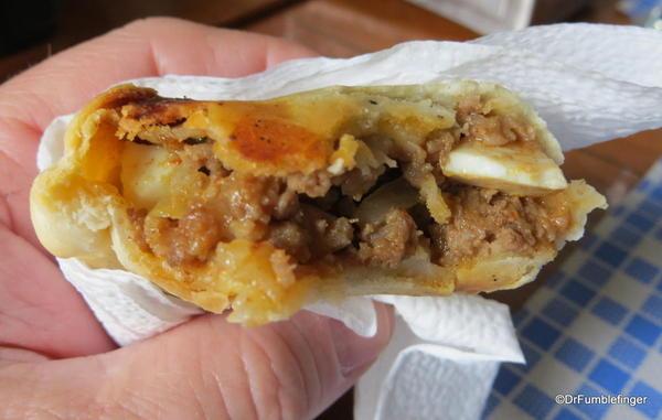 Fresh baked empanada. Delicious!