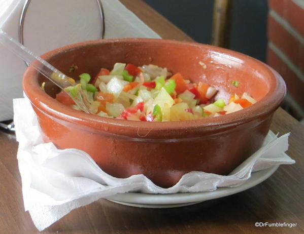 Garnish for choripan, near San Telmo