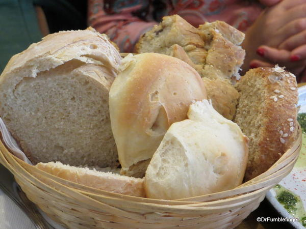 Cafe San Juan, San Telmo. Delicious assortment of bread