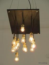Unusual lighting fixture at Mesa 524, San Telmo
