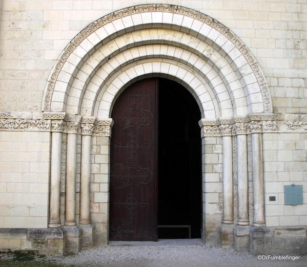 Entrance to the chapel at Abbey Fountrevaud