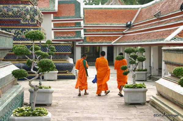 Young Buddhist monks at Wat Pho, Bangkok, Thailand