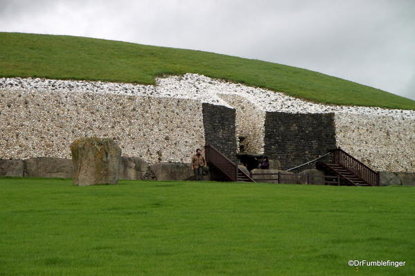 Entry to the passage tomb of Newgrange: Note the use of different colored rocks