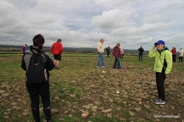 Atop the large mound in Knowth