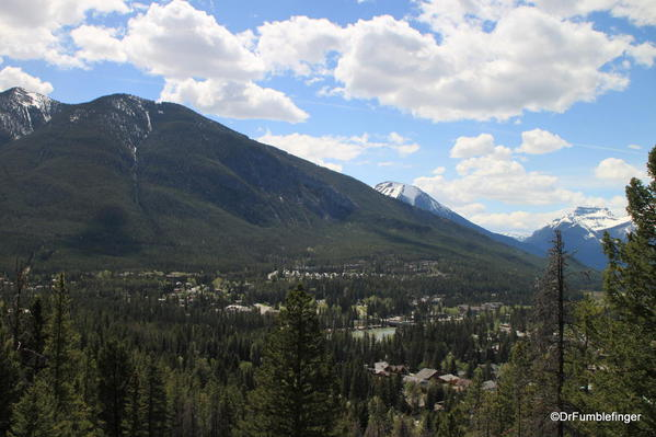View of Banff and Bow River Valley from Tunnel Mountain trail, Banff National Park