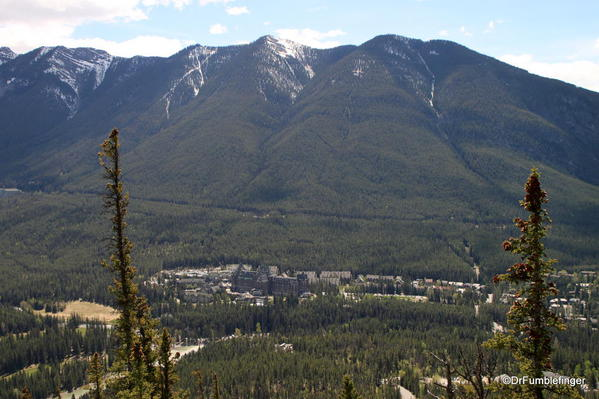 Tunnel Mountain and Banff Springs Hotel, Tunnel Mountain trail, Banff National Park