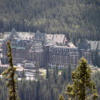 Banff Springs Hotel viewed from Tunnel Mountain trail,  Banff National Park