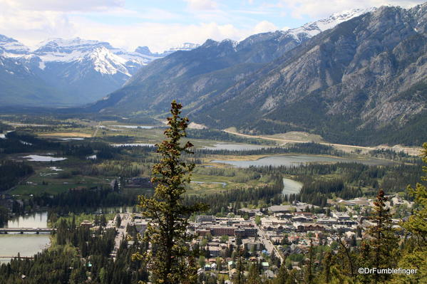 View of Banff and Vermillion Lakes from the Tunnel Mountain trail, Banff National Park