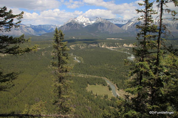 Tunnel Mountain, Banff National Park. View of the Bow River Valley