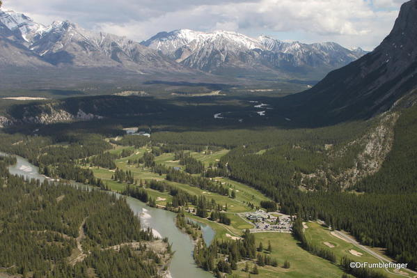 Tunnel Mountain trail, Banff National Park. Views of the Bow River Valley