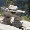 Tunnel Mountain trail,  Banff National Park. Inukshuk at the Summit, Inukshuk