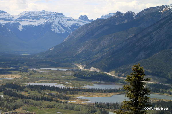 Vermillion Lakes view from the summit of Tunnel Mountain trail, Banff National Park