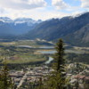 View of Banff and Vermillion Lakes from the summit of Tunnel Mountain trail,  Banff National Park