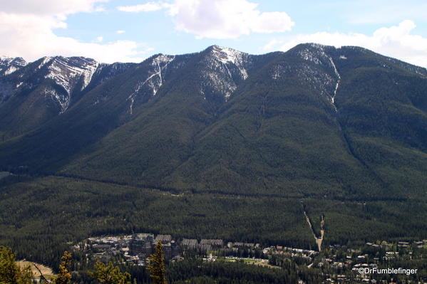 Sulphur Mountain view from summit of Tunnel Mountain trail, Banff National Park
