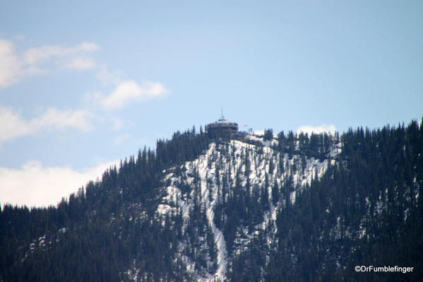 Gondola terminus on Sulphur Mountain, view from summit of Tunnel Mountain trail, Banff National Park