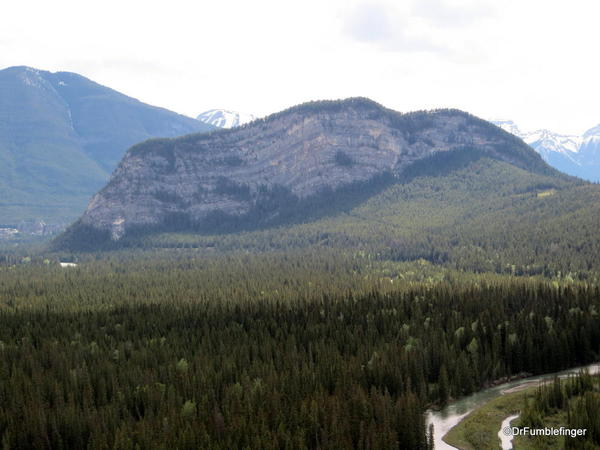 Tunnel Mountain viewed from the Hoodoos trail