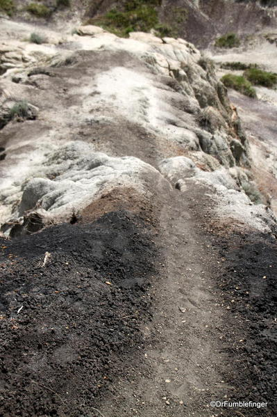 Path descending into Horseshoe Canyon. It is often very rough and poorly defined.
