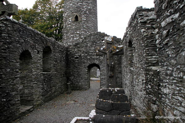 Ruins, Round Tower at Monasterboice