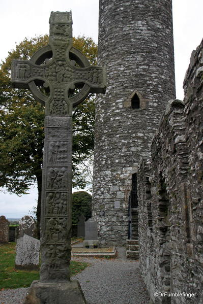 Round Tower and Celtic Cross at Monasterboice