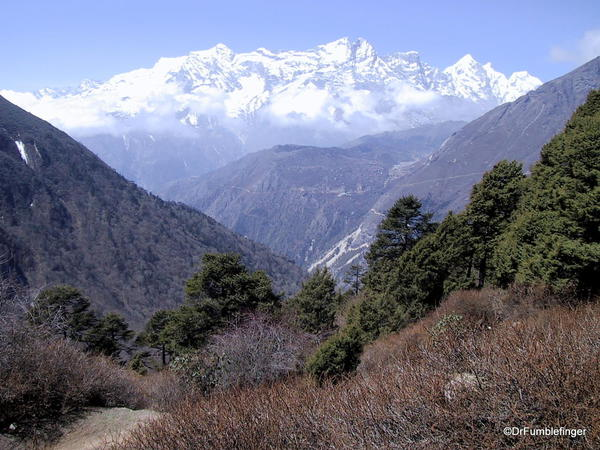 Views of Himalayas from the Tengboche Monastery, Nepal