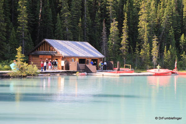 Lake Louise Boathouse & Mt. Fairview