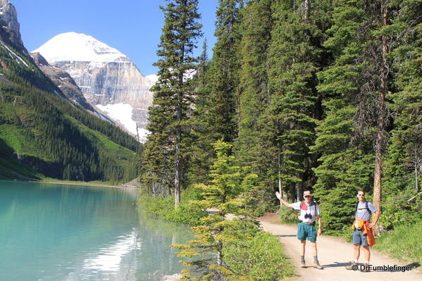 Trail along North Shore of Lake Louise