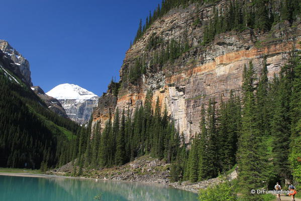Cliff along North Shore of Lake Louise