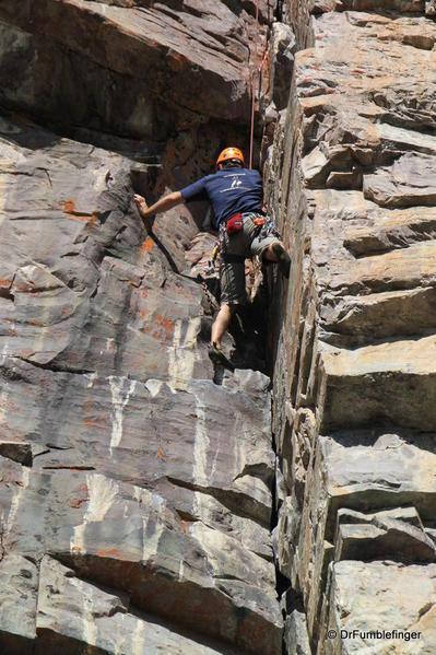 Rock-climbing, Lake Louise