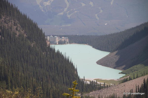 Lake Louise and view to east